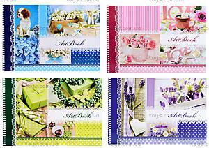 Альбом для рисования «Цветочная нежность», 40 листов, Ц260034У