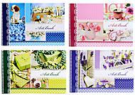Альбом для рисования «Цветочная нежность», 40 листов, Ц260034У, фото
