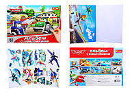 Детский альбом с наклейками «Летачки», 4510-07, купить