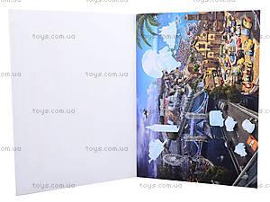 Альбом с наклейками для детей «Тачки», 4510-12, игрушки