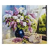 """Алмазная мозаика """"Котенок и ваза"""" 40*30 см, GB70509, купить"""