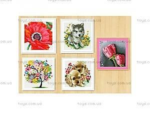 Алмазная мозаика с собачками и цветочками,
