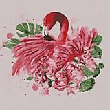 """Алмазная вышивка """"Грациозный фламинго"""", АМ 6113, купити"""
