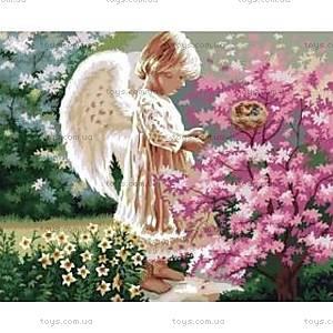 Рисование по номерам «Ангелочек и птички», КН1048