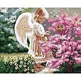 Рисование по номерам «Ангелочек и птички», КН1048, отзывы