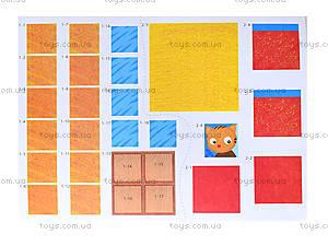 Аппликации с фигурками «Аппликация из квадратов», Л521004Р, игрушки