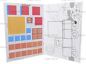 Аппликации с фигурками «Аппликация из квадратов», Л521004Р, іграшки