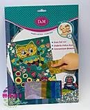 Детский набор аппликации фольгой «Совушка», 57420