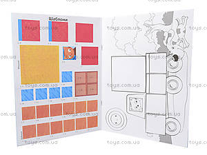 Аппликация с фигурками «Аппликация из квадратиков», Л521008У, игрушки