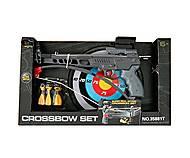 Арбалет с мишенью и стрелами, 35881T, детские игрушки
