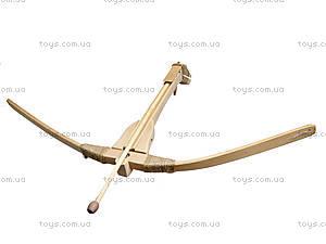 Арбалет деревянный 40 см, буковый, 172027у, детские игрушки