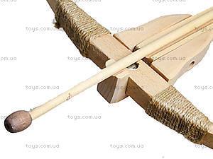 Арбалет деревянный игрушечный, 171907у, игрушки