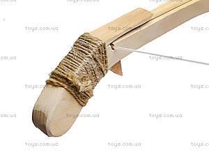 Арбалет деревянный игрушечный, 171907у, детские игрушки