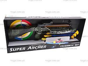 Арбалет игровой с мишенью, 20124D, игрушки