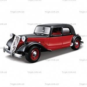 Авто-конструктор - CITROEN 15 CV TA (черно-красный, 1:24), 18-25080