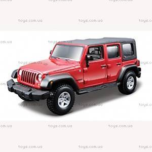 Авто-конструктор - JEEP WRANGLER UNLIMITED RUBICON (красный, 1:32), 18-45121