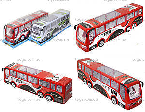 Игрушечный инерционный автобус, пластик, 768