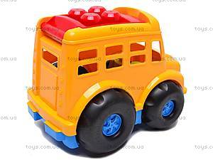 Автобус «Бусик», с лопаткой и граблями , 0084, фото