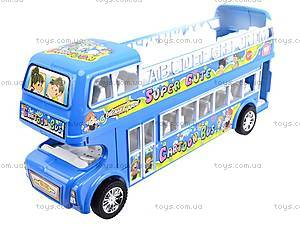 Автобус инерционный двухэтажный, 108-8A, детские игрушки