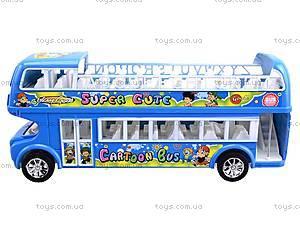 Автобус инерционный двухэтажный, 108-8A, магазин игрушек