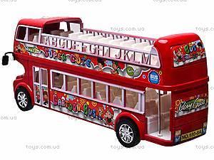 Автобус инерционный двухэтажный, 108-8A, цена