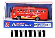 Автобус красный с эффектами, RJ6688A, купить
