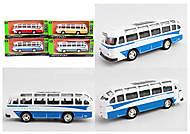 Автобус металл 1:32-36, свет, звук, ассортимент, 3288