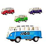 Автобус металл Volkswagend Bus 1:50, 4 цвета, 7827, купить