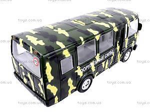 Автобус ПАЗ «Вооруженные силы», 32117, детские игрушки