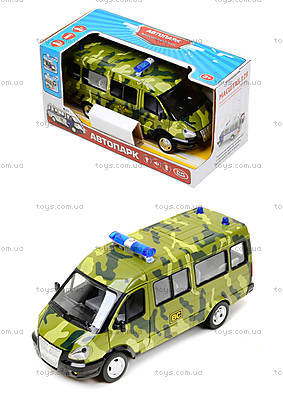 игрушечный военный автобус «Автопарк», 9689-A