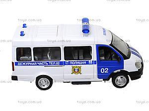 Игрушечный полицейский автобус «Автопарк», 9689-B, купить