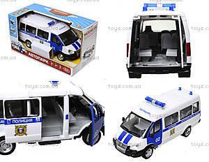 Игрушечный полицейский автобус «Автопарк», 9689-B