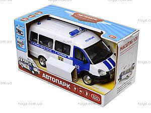 Игрушечный полицейский автобус «Автопарк», 9689-B, цена