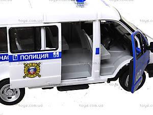 Игрушечный полицейский автобус «Автопарк», 9689-B, детские игрушки