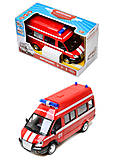 Игрушечный микроавтобус «Пожарка», 9707-A, фото