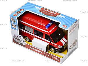 Игрушечный микроавтобус «Пожарка», 9707-A, детские игрушки
