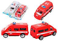 Игрушечный автобус «Пожарная охрана», R366-10, фото