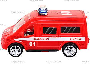 Игрушечный автобус «Пожарная охрана», R366-10, игрушки
