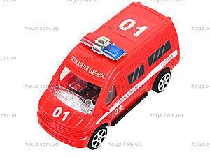 Игрушечный автобус «Пожарная охрана», R366-10, детские игрушки