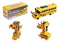 Автобус-трансформер со звуком и светом, на батарейках, 999G-51A, фото