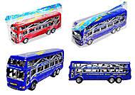 Инерционный автобус для детей, 425-5, фото