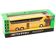 Автобус инерционный Автопром желтый, 7779