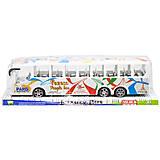 Автобус инерционный белый, WY950-54, фото