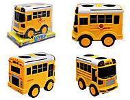 Игрушечный автобус с инерцией, 06-26F06-27F, фото