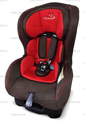 Автокресло Wonderkids Crown Safe (красный/коричневый), WK01-CS11-011