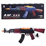 """Автомат """"AK 444"""" подсветка, звуки выстрелов, AK444, отзывы"""