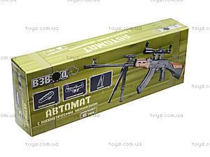 Игрушечный автомат с пульками и лазером, AK47A, игрушки
