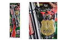 """Автомат игрушечный """"Комбат"""", с пулями на присосках, 103-6, фото"""
