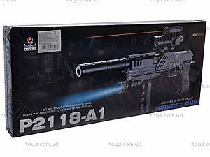 Автомат с фонариком на пульках, P2118-A1, купить