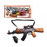 Автомат-трещетка «AK-47» с гранатой, 810, купить